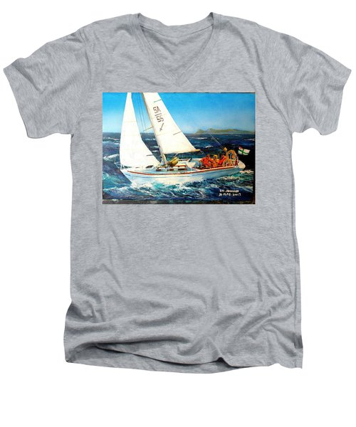 Southern Maid Men's V-Neck T-Shirt by Tim Johnson