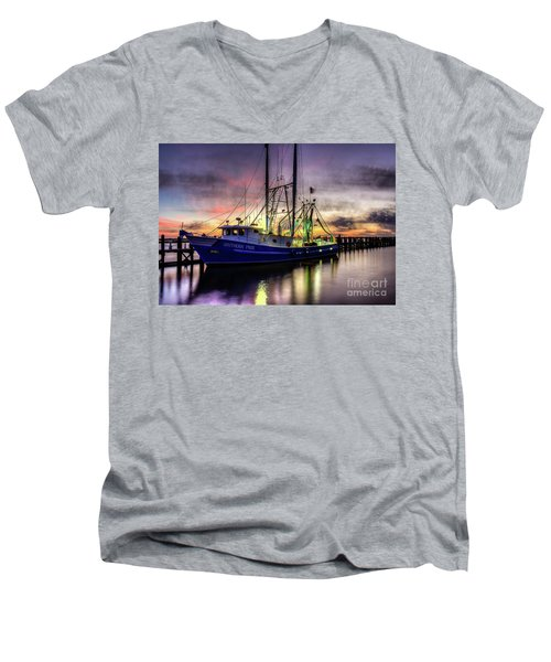Men's V-Neck T-Shirt featuring the photograph Southern Pride by Maddalena McDonald