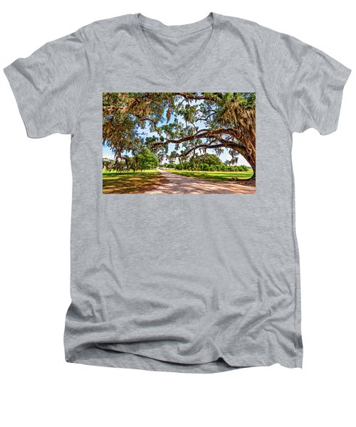Southern Serenity Men's V-Neck T-Shirt by Steve Harrington