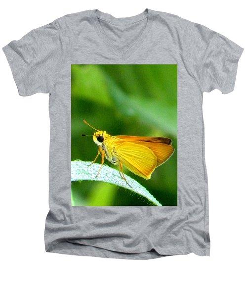 Southern Skipperling Butterfly 001  Men's V-Neck T-Shirt by Chris Mercer