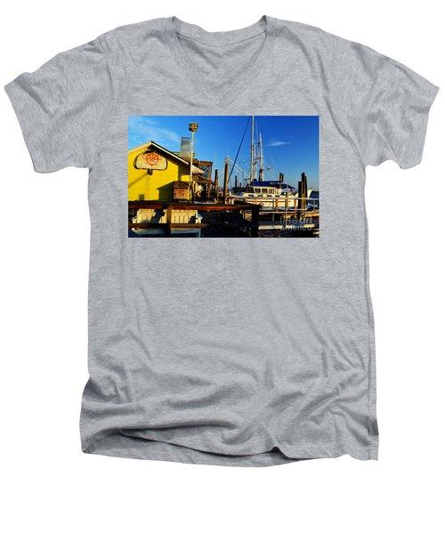 Southport Potters Seafood Pier Men's V-Neck T-Shirt
