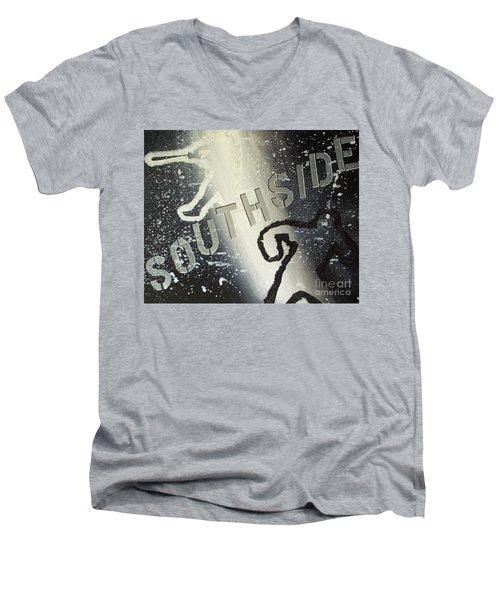 Southside Sox Men's V-Neck T-Shirt by Melissa Goodrich