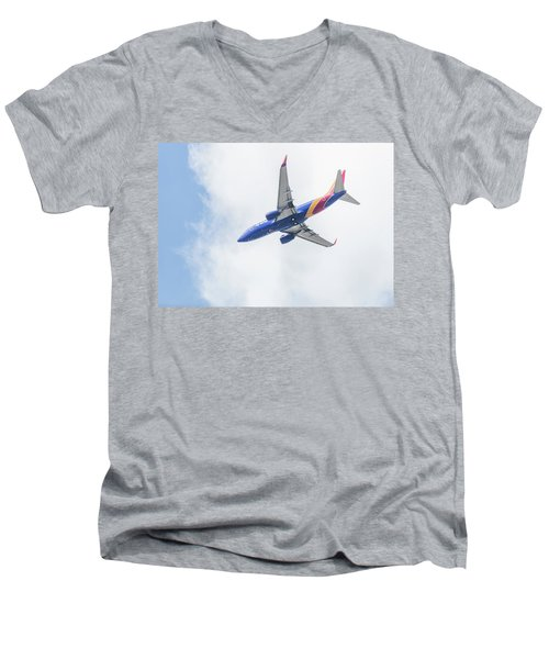 Southwest Airlines With A Heart Men's V-Neck T-Shirt