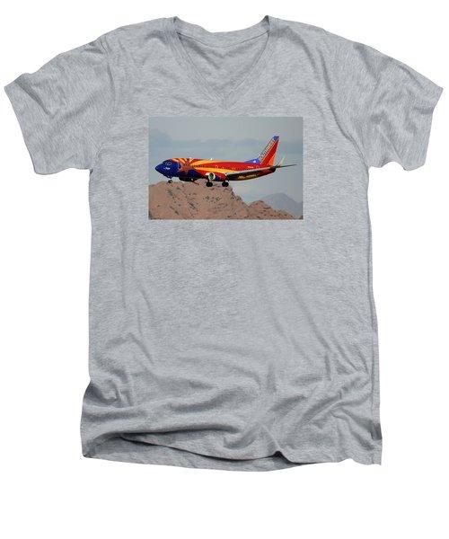 Southwest Boeing 737-3h4 N383sw Arizona Phoenix Sky Harbor December 20 2015  Men's V-Neck T-Shirt
