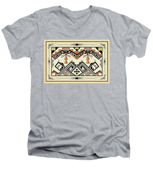 Southwest Pattern Men's V-Neck T-Shirt