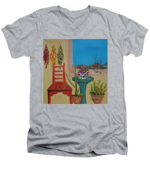 Southwestern 6 Men's V-Neck T-Shirt by Judith Rhue
