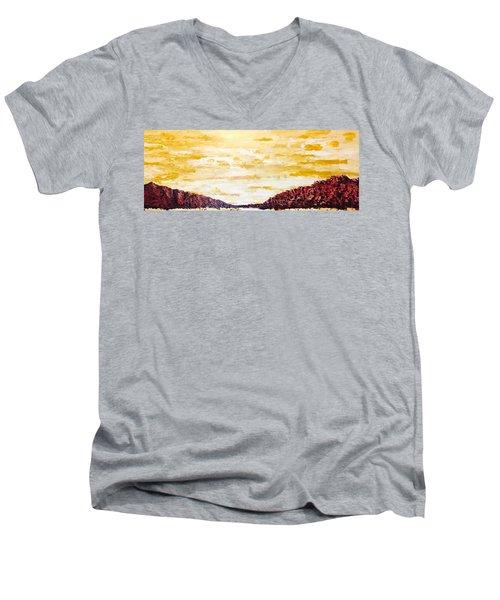 Southwestern Mountain Range Men's V-Neck T-Shirt