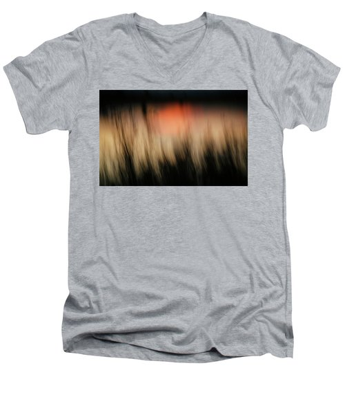 Men's V-Neck T-Shirt featuring the photograph Southwestern Sunset by Marilyn Hunt
