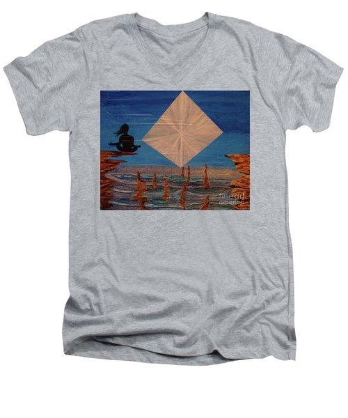 Soycd Men's V-Neck T-Shirt by Stuart Engel