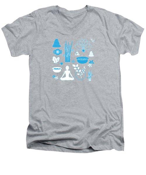 Spa Background Men's V-Neck T-Shirt