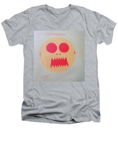 Men's V-Neck T-Shirt featuring the photograph Space Alien by Art Block Collections