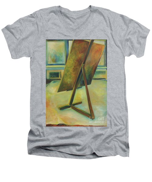 Space Filled And Empty Men's V-Neck T-Shirt by Daun Soden-Greene