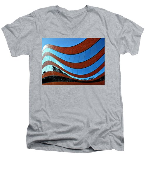 Space Geometry #8 Men's V-Neck T-Shirt by Alex Galkin