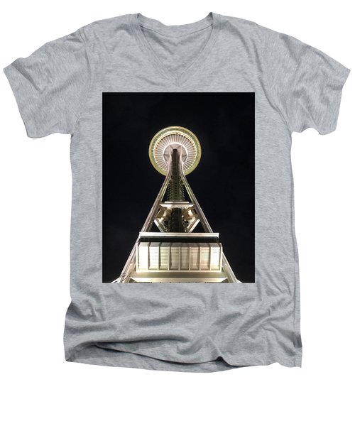 Space Needle Men's V-Neck T-Shirt