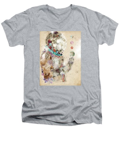 Spaceman Men's V-Neck T-Shirt by Bri B