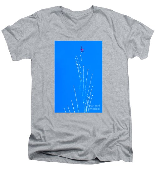 Men's V-Neck T-Shirt featuring the photograph Spacious by Ray Shiu