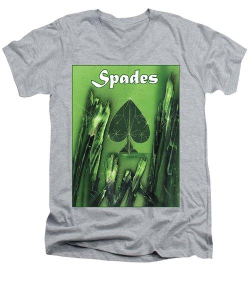 Spades Suit Men's V-Neck T-Shirt