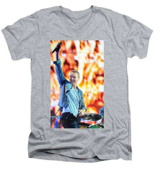 Coldplay4 Men's V-Neck T-Shirt by Rafa Rivas