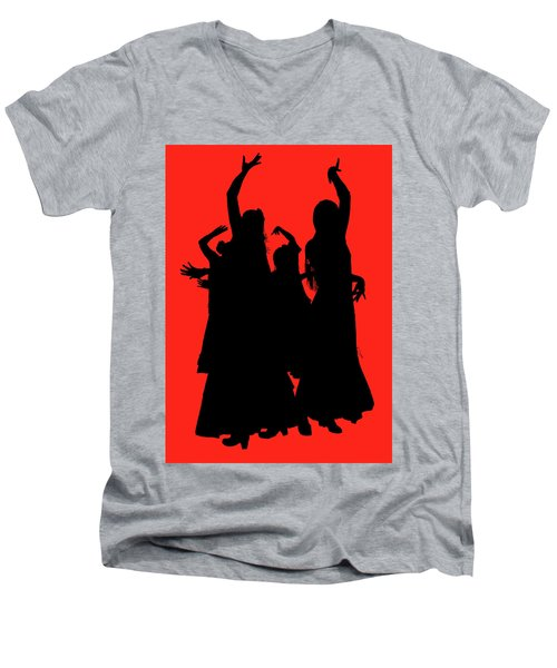Men's V-Neck T-Shirt featuring the photograph Spanish Dancers by Jeff Burgess