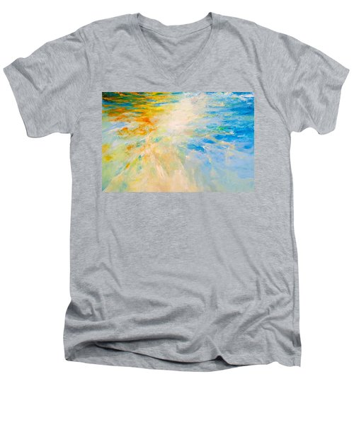 Sparkle And Flow Men's V-Neck T-Shirt by Dina Dargo