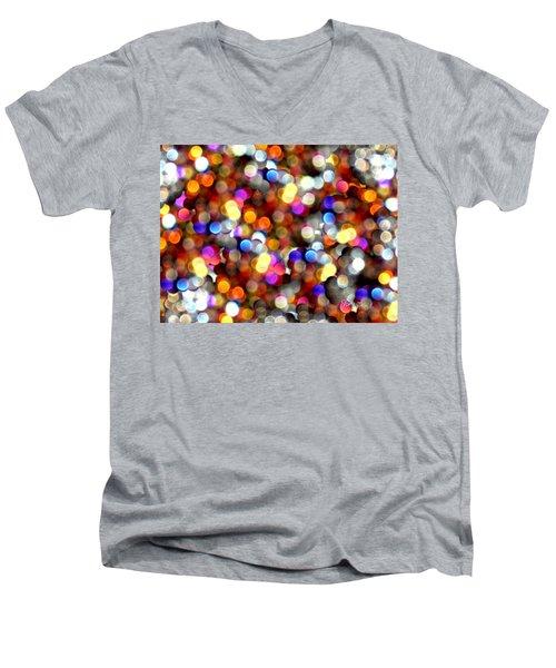 Sparkles #8885_4 Men's V-Neck T-Shirt