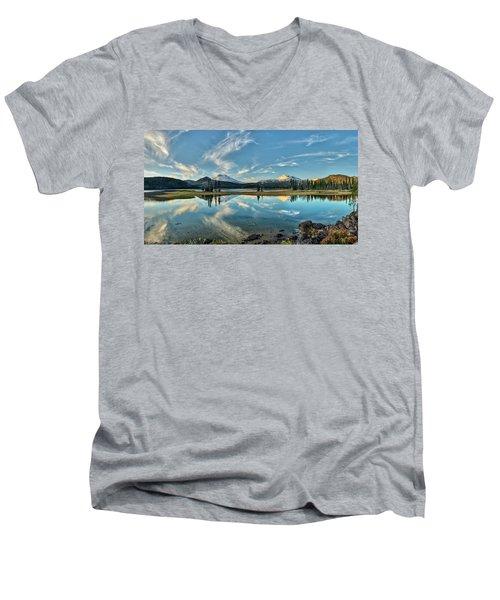 Sparks Sunset Men's V-Neck T-Shirt