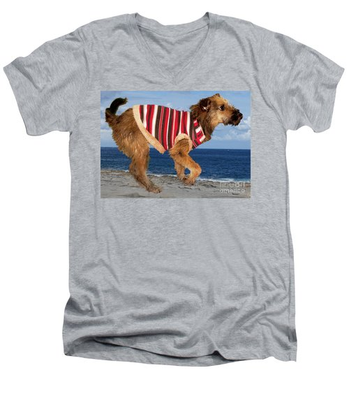 Men's V-Neck T-Shirt featuring the photograph Sparky by Al Bourassa