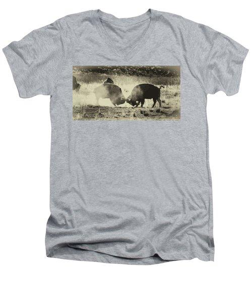 Sparring Partners - American Bison Men's V-Neck T-Shirt