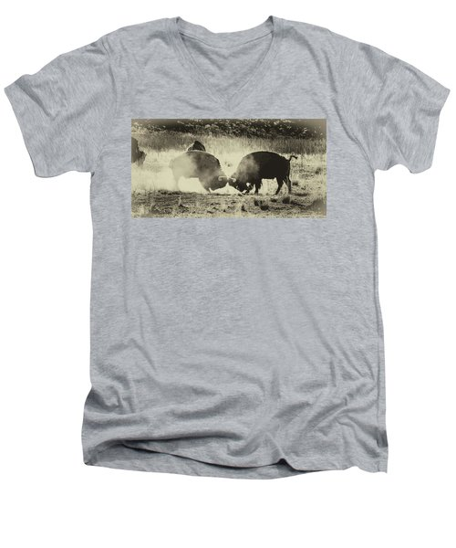 Sparring Partners - American Bison Men's V-Neck T-Shirt