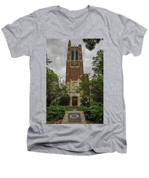 Spartan Bell Tower Men's V-Neck T-Shirt