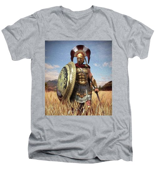 Spartan Hoplite - 02 Men's V-Neck T-Shirt