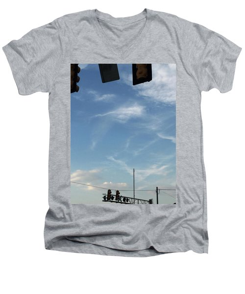 Special Day-hand From Heaven  Men's V-Neck T-Shirt