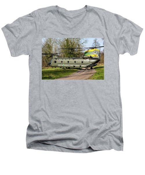 Special Tail Chinook 27 Squadron Men's V-Neck T-Shirt by Ken Brannen