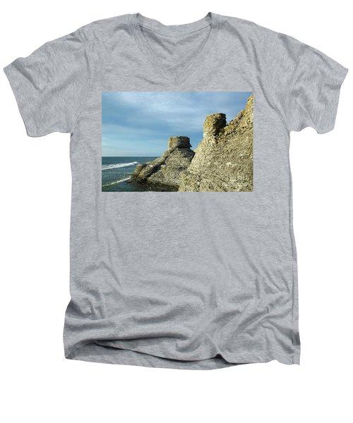 Spectacular Eroded Cliffs  Men's V-Neck T-Shirt by Kennerth and Birgitta Kullman