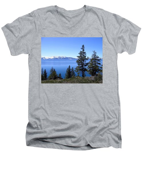 Spectacular Lake Tahoe Men's V-Neck T-Shirt