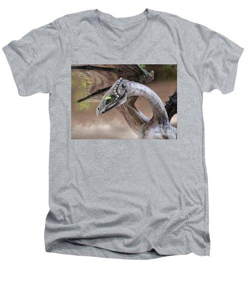 Spectral Dragon Men's V-Neck T-Shirt