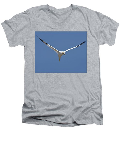 Speed Adjustment Men's V-Neck T-Shirt by Tony Beck