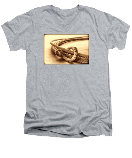 Speed Burner Men's V-Neck T-Shirt by American West Legend By Olivier Le Queinec