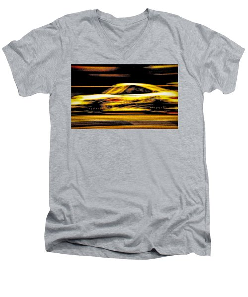 Men's V-Neck T-Shirt featuring the photograph Speedmerchant by Michael Nowotny