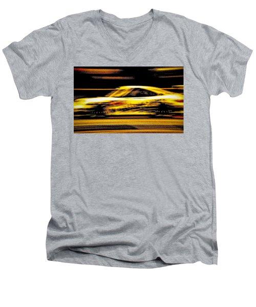 Speedmerchant Men's V-Neck T-Shirt by Michael Nowotny