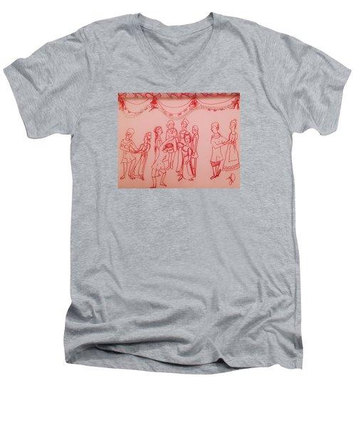 Spellbinding Dance Of Joy Men's V-Neck T-Shirt by Judith Desrosiers