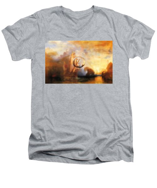 Sphere 11 Turner Men's V-Neck T-Shirt by David Bridburg