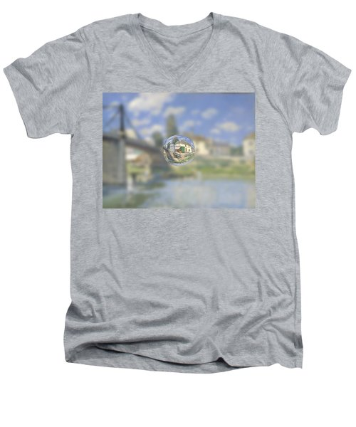 Sphere 18 Sisley Men's V-Neck T-Shirt by David Bridburg