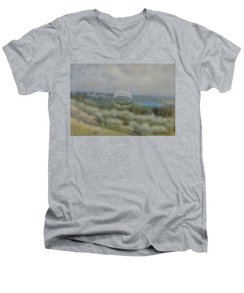 Sphere 24 Sisley Men's V-Neck T-Shirt by David Bridburg