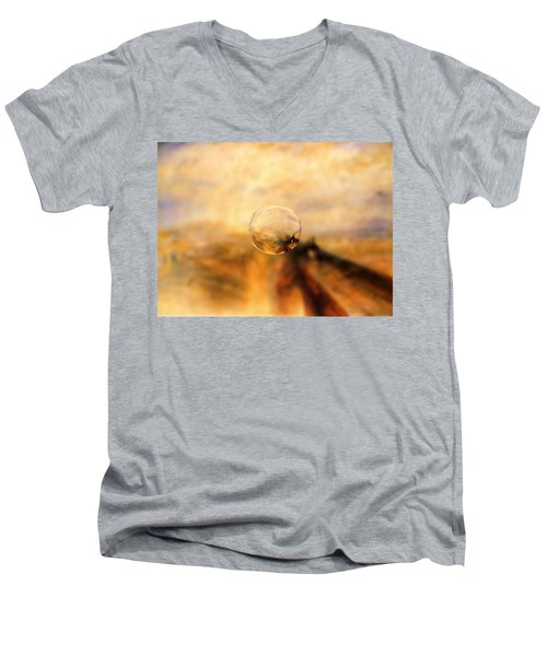 Sphere 8 Turner Men's V-Neck T-Shirt by David Bridburg
