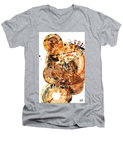 Men's V-Neck T-Shirt featuring the painting Sphere Series 1021.050212 by Kris Haas