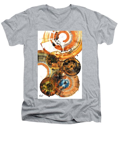 Men's V-Neck T-Shirt featuring the painting Sphere Series 1024.050312 by Kris Haas