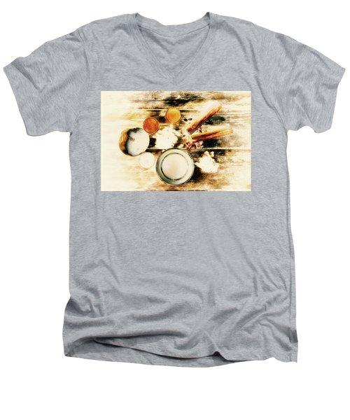 Spice Brown  Men's V-Neck T-Shirt