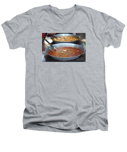 Spicy Duck Blood Soup Men's V-Neck T-Shirt