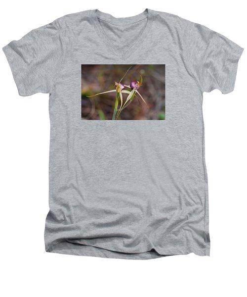 Spider Orchid Australia Men's V-Neck T-Shirt
